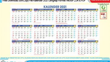 Download Softcopy Desain Kalender 2021 Vector CDR dan PDF