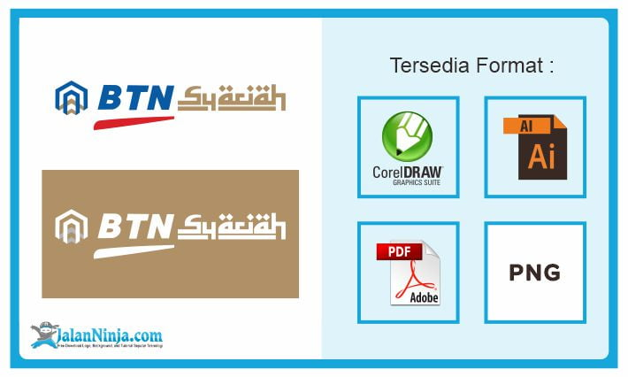 logo bank btn syariah free download vector lengkap file format cdr ai pdf png jalanninja com logo bank btn syariah free download